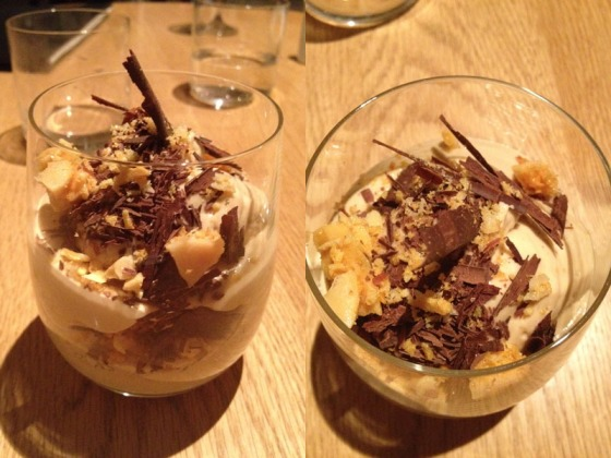 Hazelnut mousse, chocolate and honeycomb