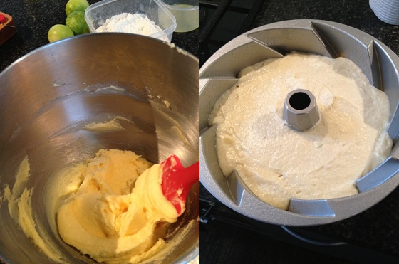 Lime Buttermilk Bundt in Process