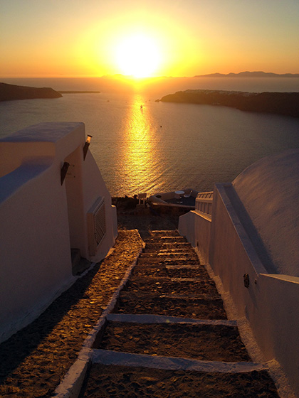 Santorini Sunset from Astra Suites
