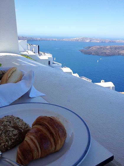 Astra Suites Santorini Breakfast View