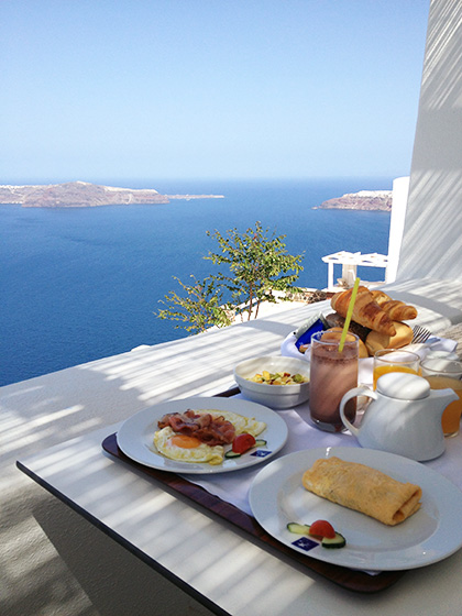 Astra Suites Santorini Breakfast View